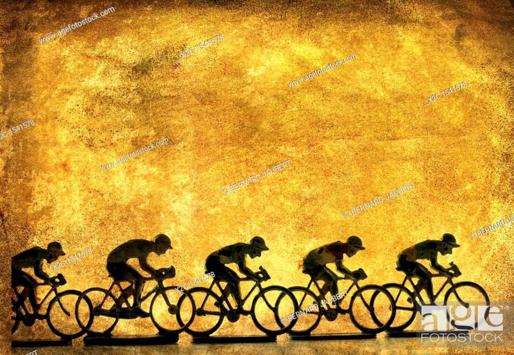 Stock Photo: Illustration of cyclists.