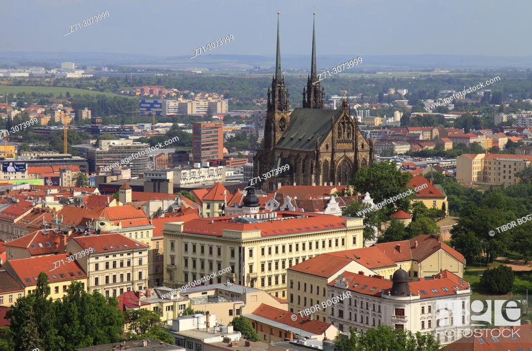 Imagen: Czech Republic, Brno, skyline, general view, St Peter and St Paul Cathedral, .
