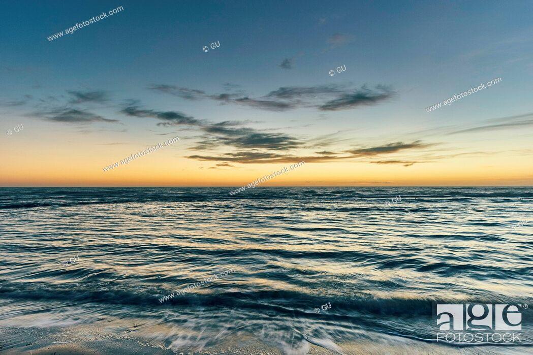 Photo de stock: Seascape at sunset, Realmonte coast, Agrigento, Sicily, Italy.