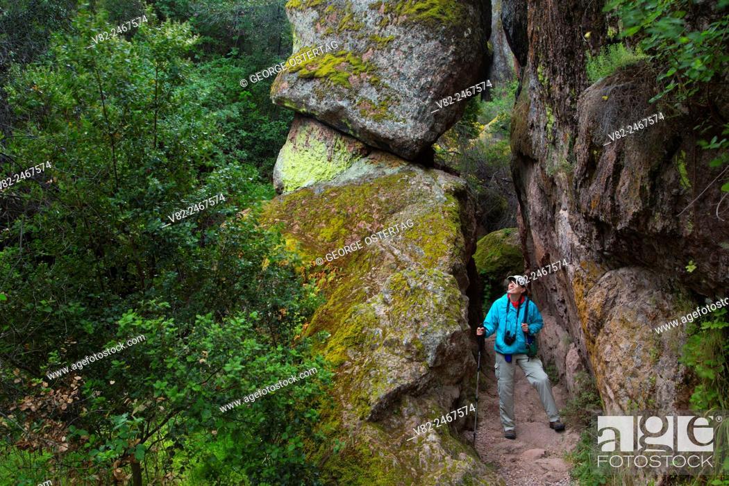 Stock Photo: Bear Gulch Cave Trail, Pinnacles National Park, California.