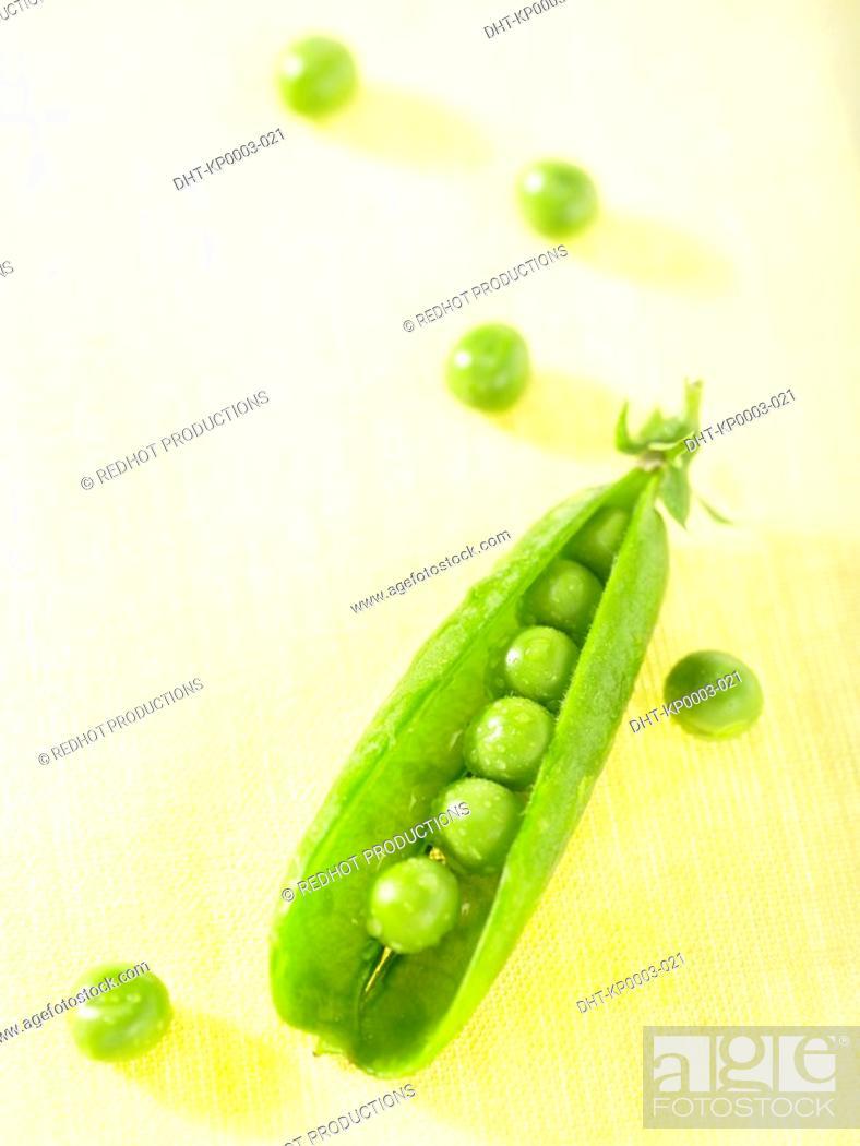 Stock Photo: Peas in a pod.