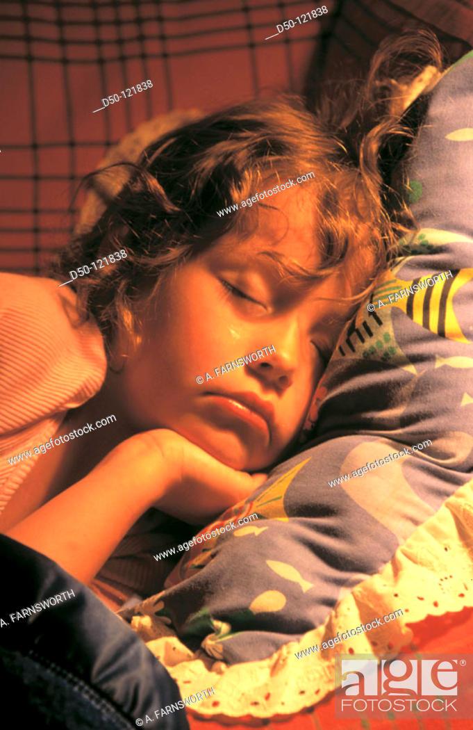 Stock Photo: Little girl sleeping.