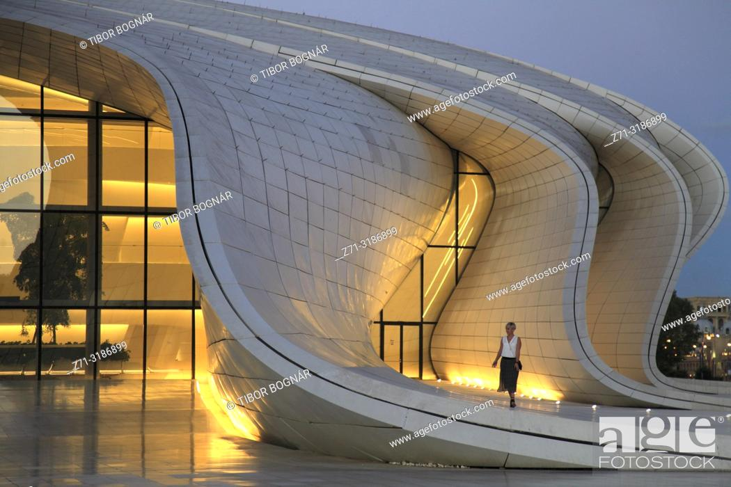 Stock Photo: Azerbaijan; Baku, Heydar Aliyev Center, .
