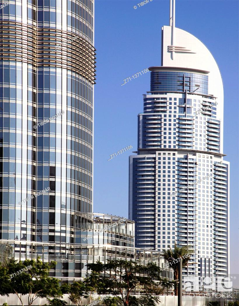 Stock Photo: United Arab Emirates, Dubai, The Address Hotel,.