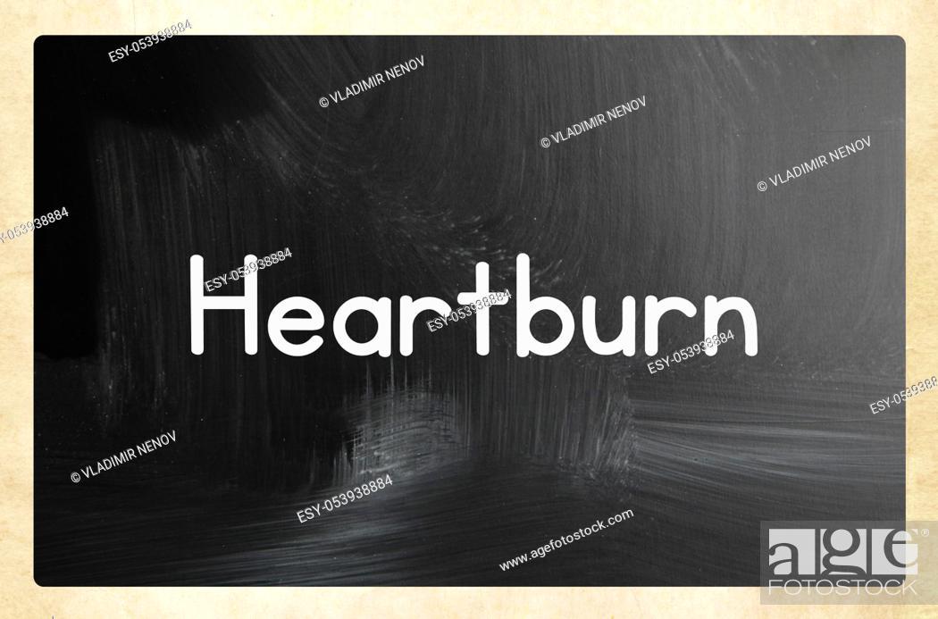 Stock Photo: heartburn concept.