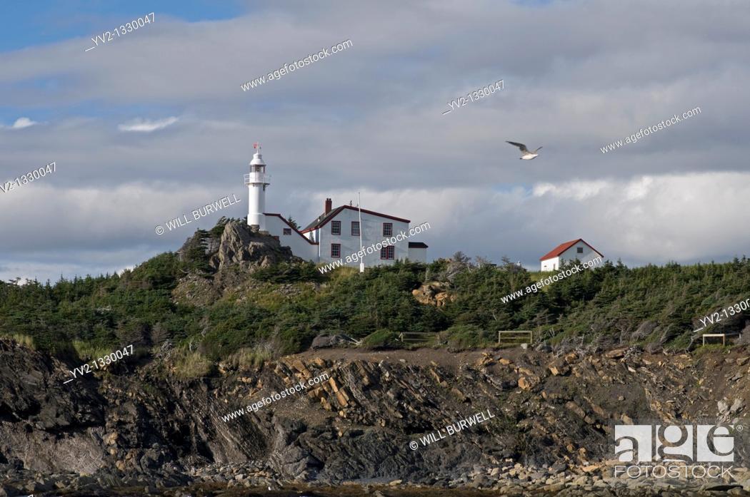 Stock Photo: Lighthouse Lobster Cove Head Newfoundland and Labrador.