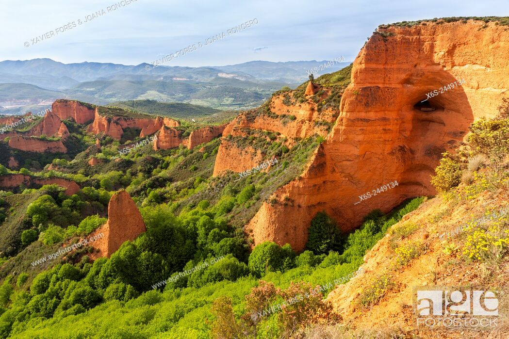Stock Photo: Natural park of Las Medulas, Leon, Spain.