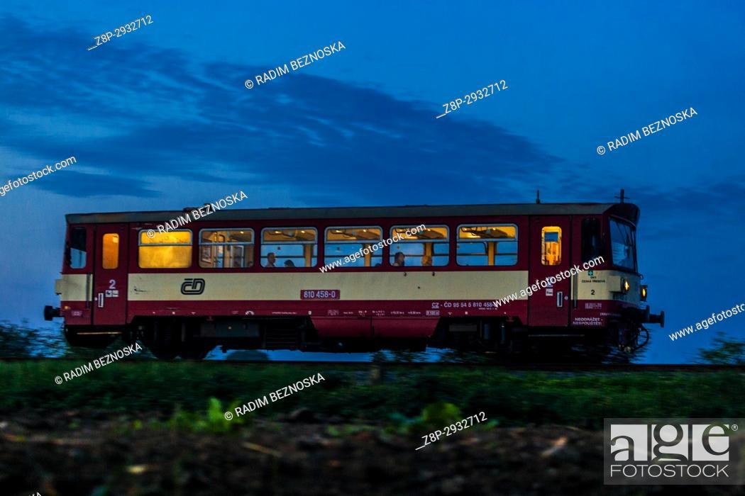 Imagen: Czech railways, motor wagon for passenger transport Class 810, Czech Republic, Europe.
