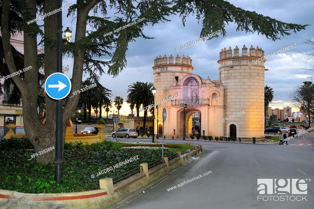 Stock Photo: Puerta de Palmas. Badajoz. Extremadura. Spain.
