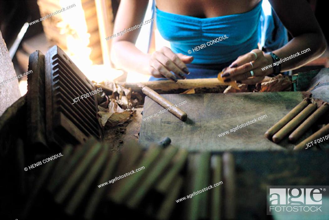 Stock Photo: Havana, making cigars.