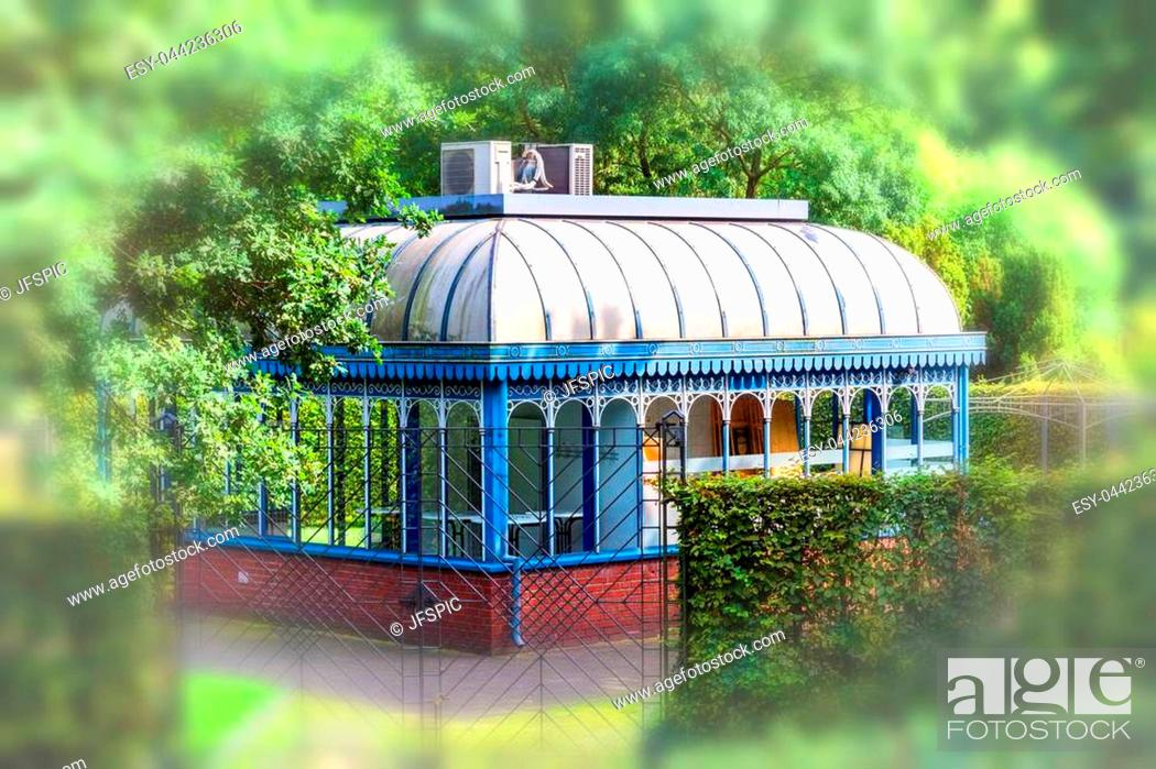 Stock Photo: Tourainer pavilion in the city park of the city of Mlheim in Germany.