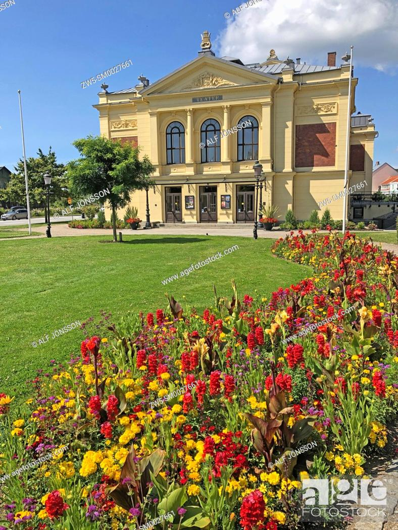 Stock Photo: The theatre in Ystad, build 1894, Scania, Sweden.