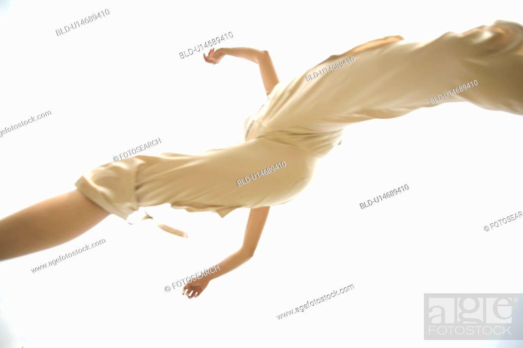 Stock Photo: Flying woman.