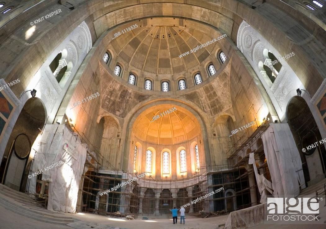 Stock Photo: Interior of the Saint Sava Cathedral, Belgrade, Serbia.