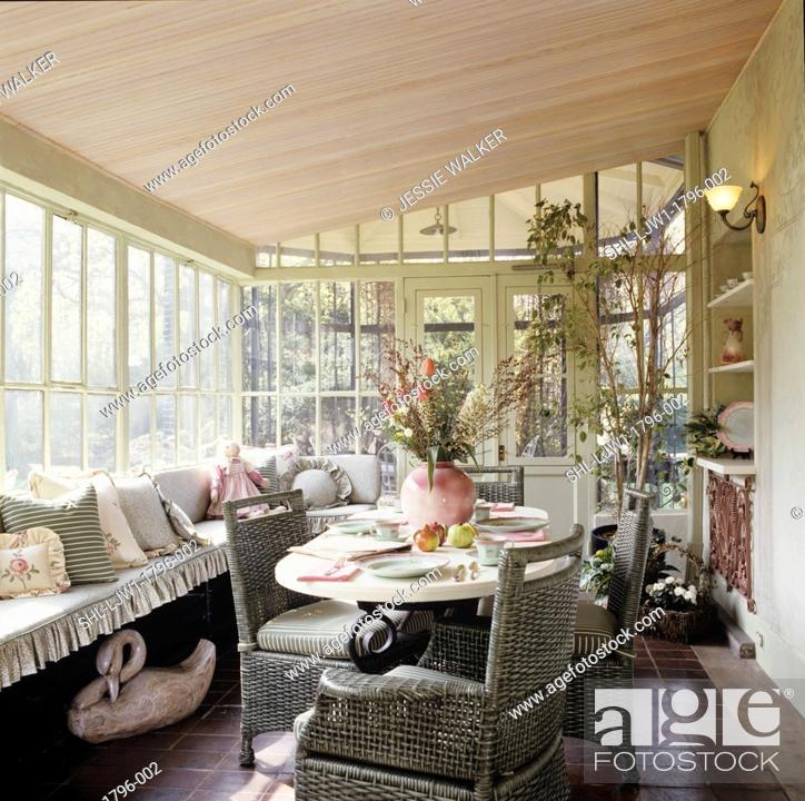 Pleasant Porches Enclosed Sun Porch With Eating Area Window Seat Theyellowbook Wood Chair Design Ideas Theyellowbookinfo