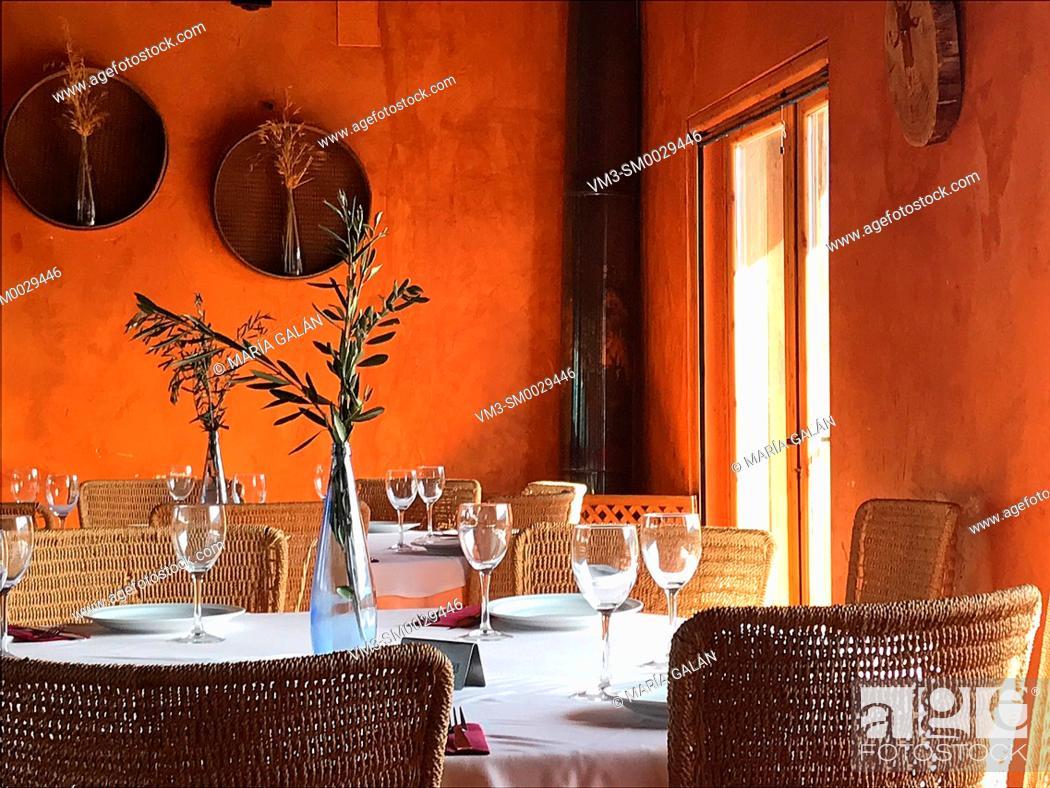 Stock Photo: Restaurant, indoor view. Avila, Spain.