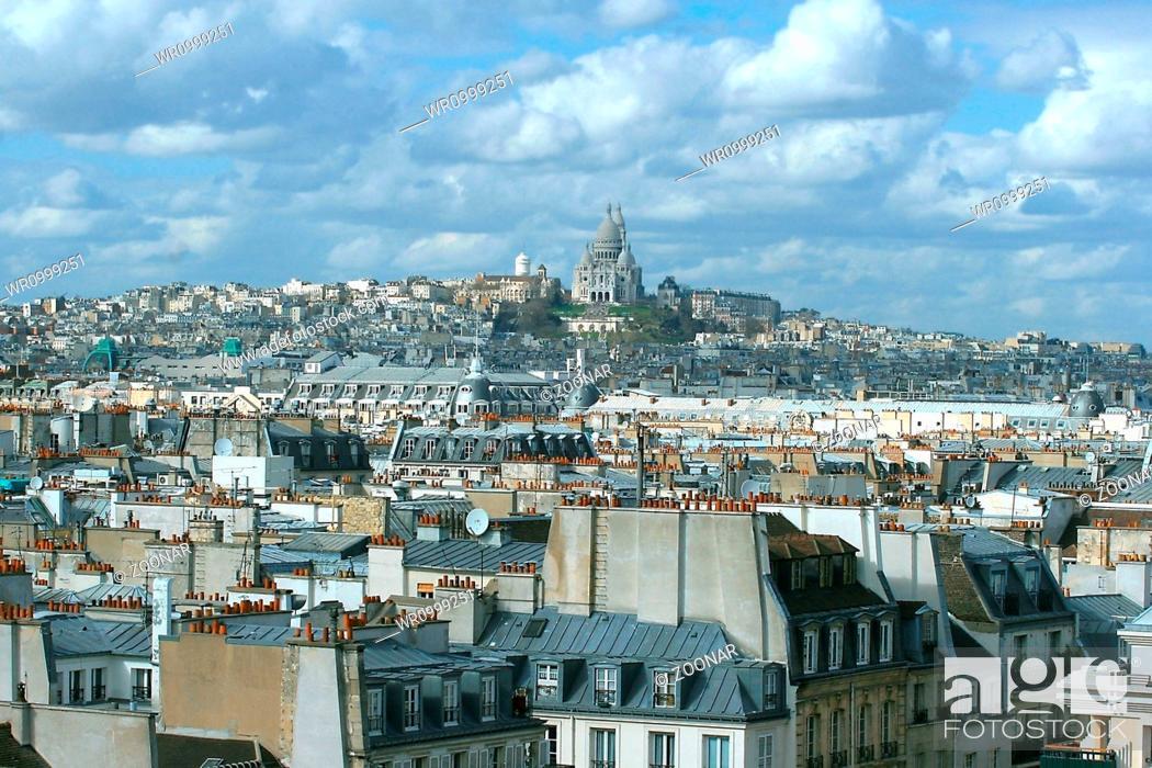 Stock Photo: Paris Sacre Coeur.