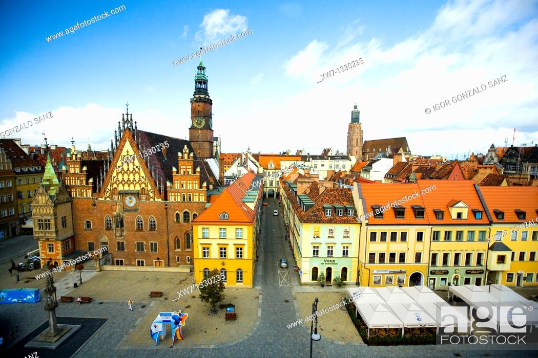 Stock Photo: Wroclaw church at the city centre, Poland.