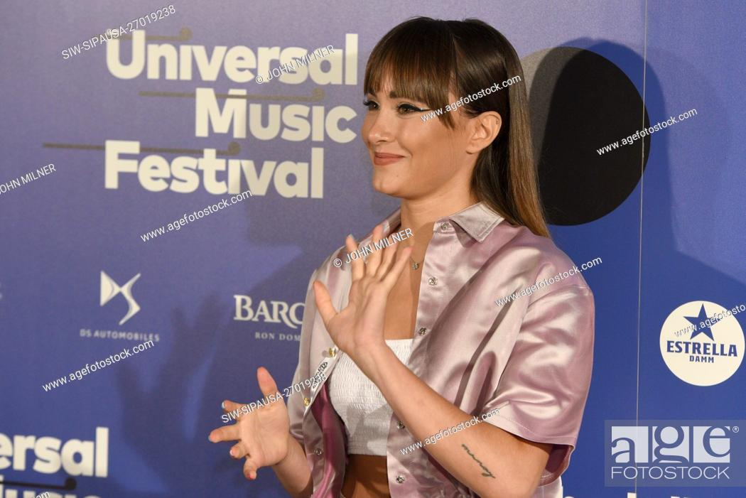 Stock Photo: Spanish singer Aitana Ocaña attends a photocall before her concert at Teatro Real in Madrid. (Photo by John Milner / SOPA Images/Sipa USA).