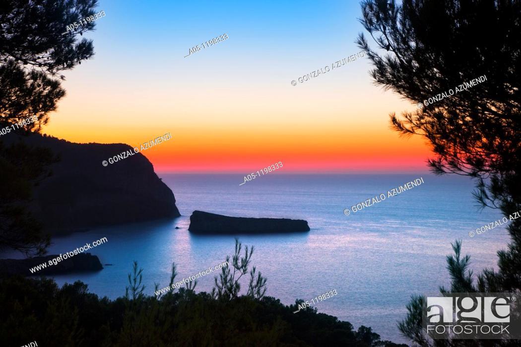 Stock Photo: Landscape next to Port Sant Miquel. Ibiza. Balearic Islands. Spain.