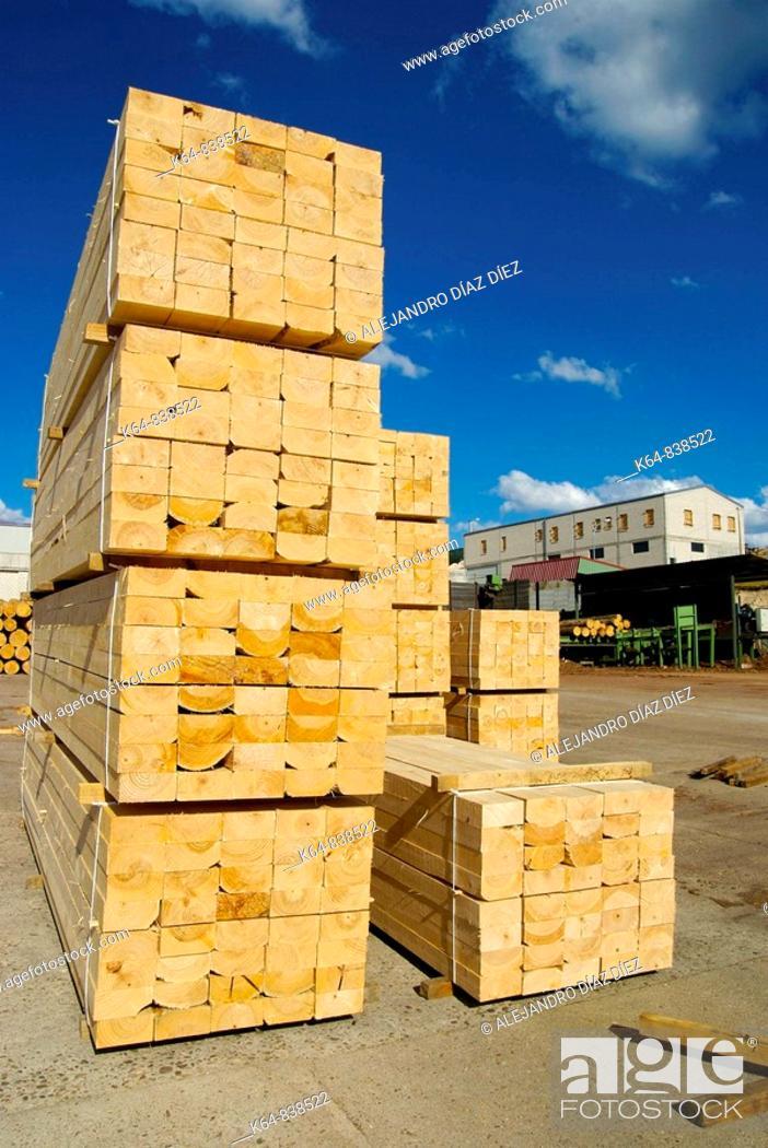 Stock Photo: Wooden beams.
