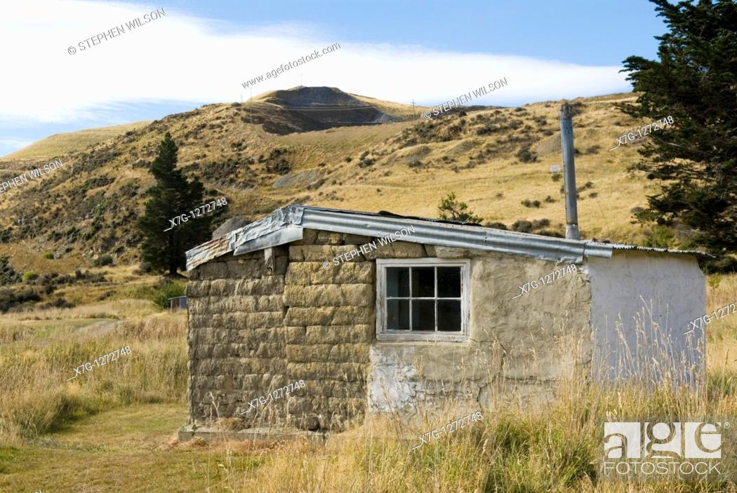 Old Gold Miners Hut At Golden Point Battery Historic Reserve