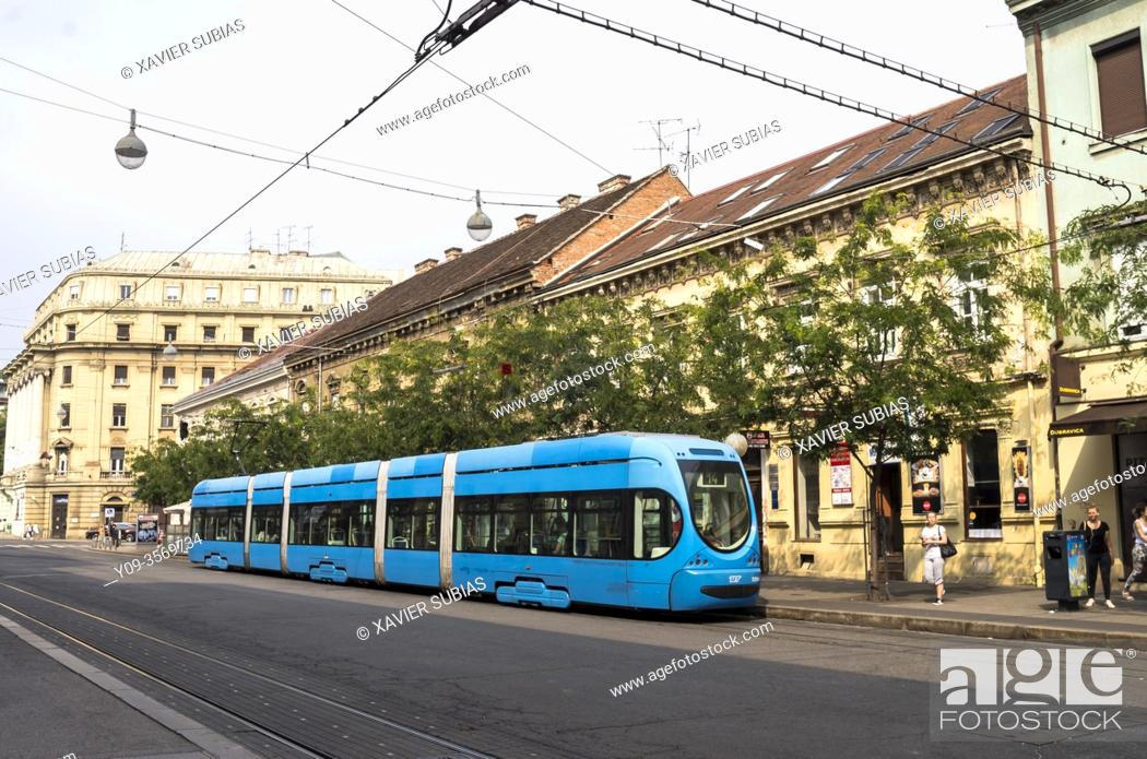Stock Photo: Tram, Zagreb, Croatia.