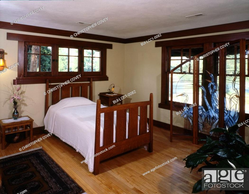 Stock Photo Small Bedroom With Bed