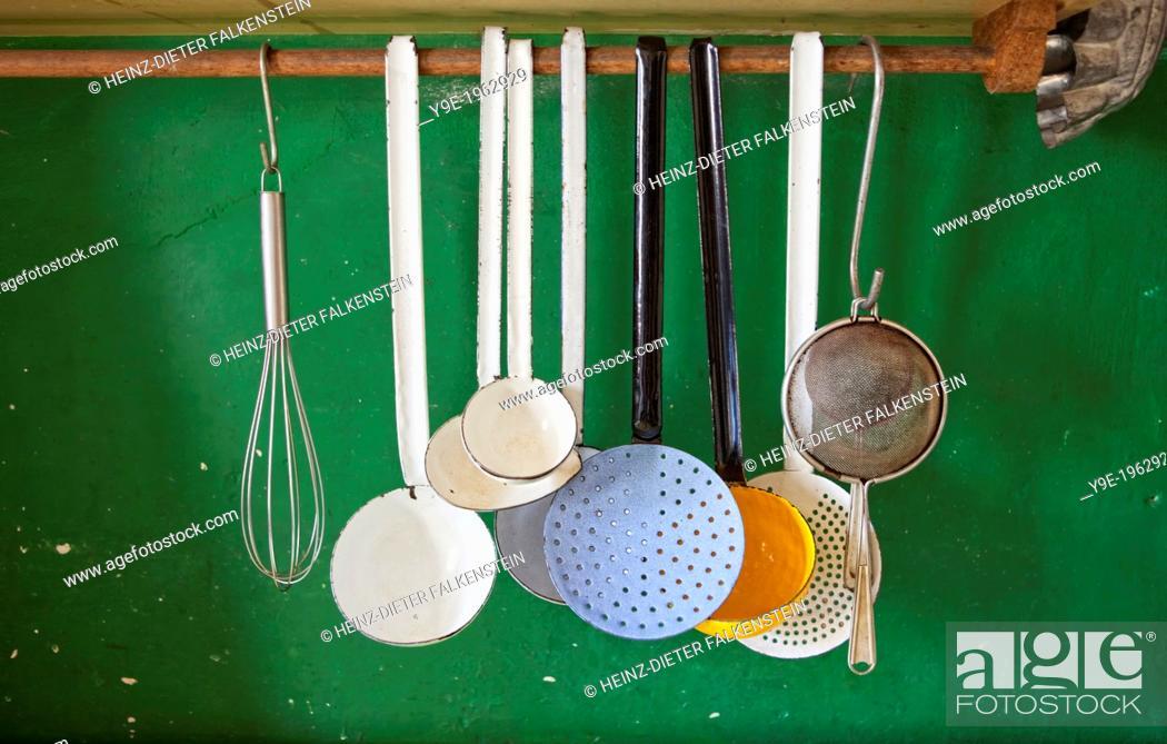 Stock Photo: Historical culinary utensils, Germany.
