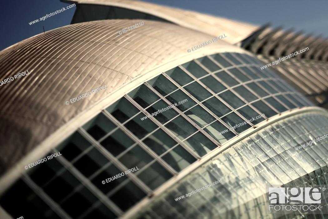 Stock Photo: City of Arts and Sciences by Santiago Calatrava  Valencia  Spain.