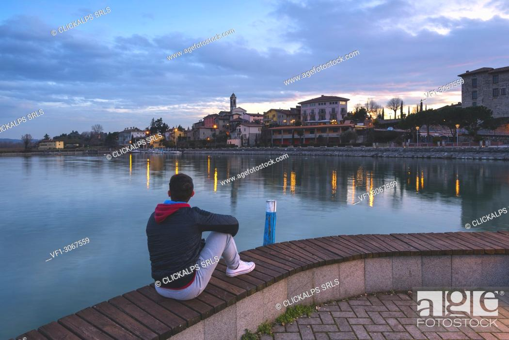 Stock Photo: Clusane d'Iseo, Iseo lake, Brescia province, Lombardy, Italy, Europe.