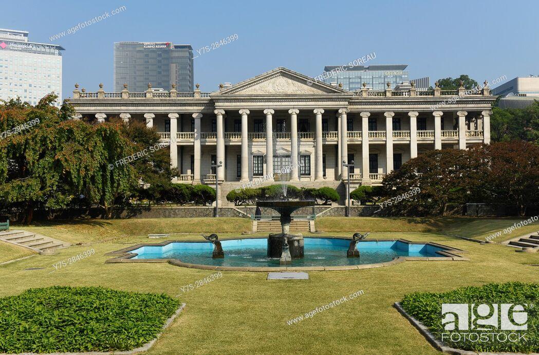 Stock Photo: Seokjojeon, Deoksugung Palace (Palace of Virtuous Longevity), Seoul, South Korea, Asia.