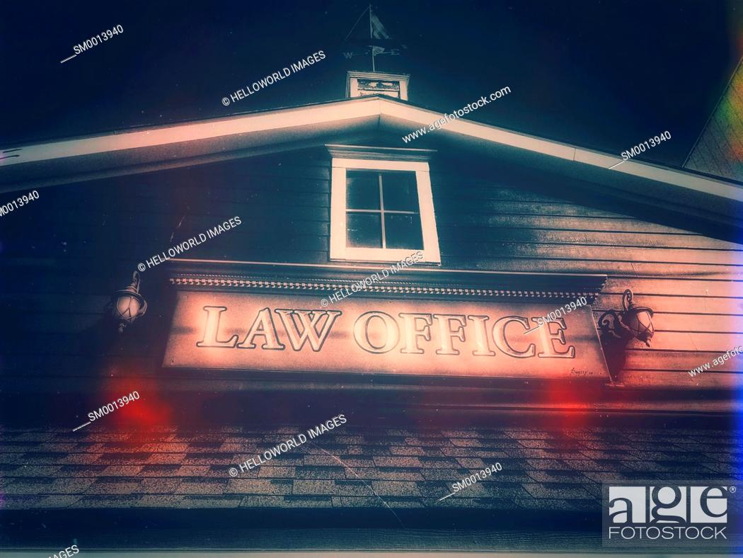 Photo de stock: Traditional style law office, Canada.