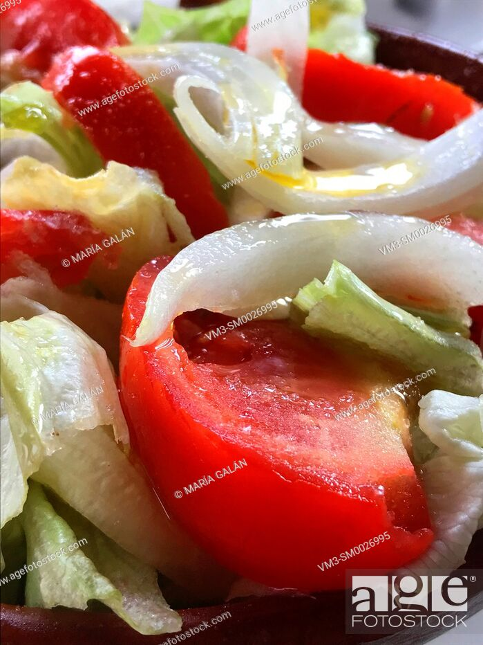 Stock Photo: Mixed salad. Close view.