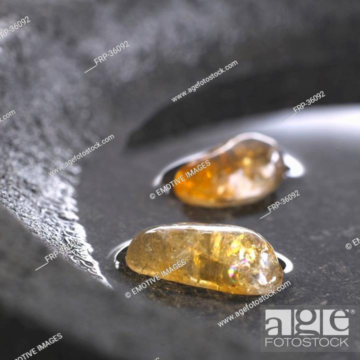 Stock Photo: Helaing stone rock crystal.