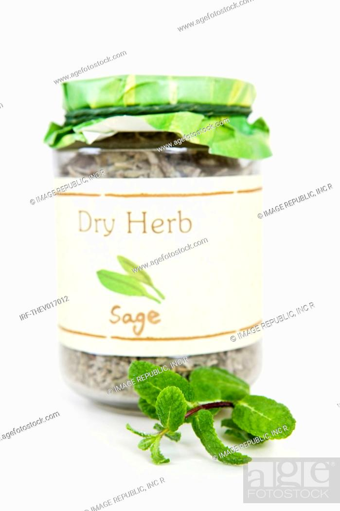 Stock Photo: bottle of herb.