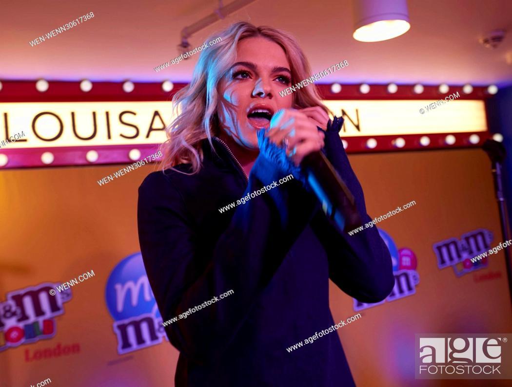 Former X Factor winner Louisa Johnson performs live at M&M