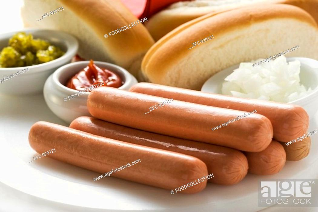 Stock Photo: Ingredients for hot dogs.