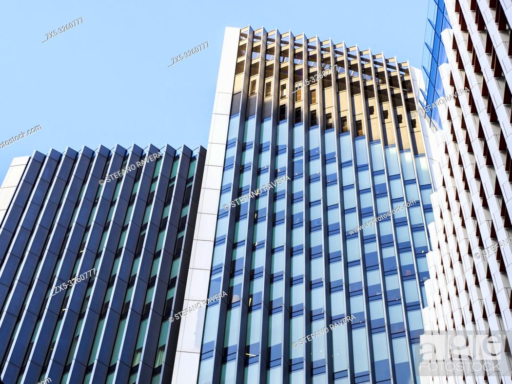 Stock Photo: Detail of 10 Fenchurch Avenue building in the city of London - England.