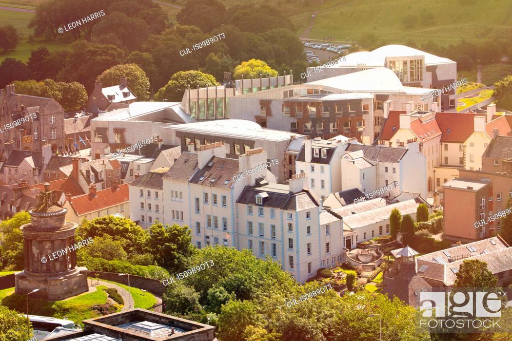 Stock Photo: View from Calton Hill, Edinburgh, Scotland.