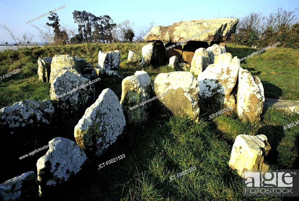Stock Photo: Channel Islands, Jersey, Faldouet dolmen.