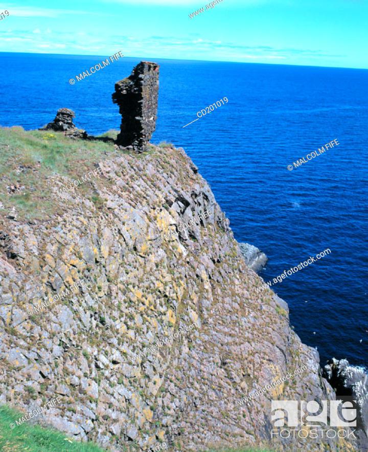 Stock Photo: Fast Castle. Scottish Borders. Scotland.