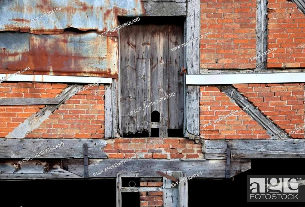 Stock Photo: Warwickshire barn detail.