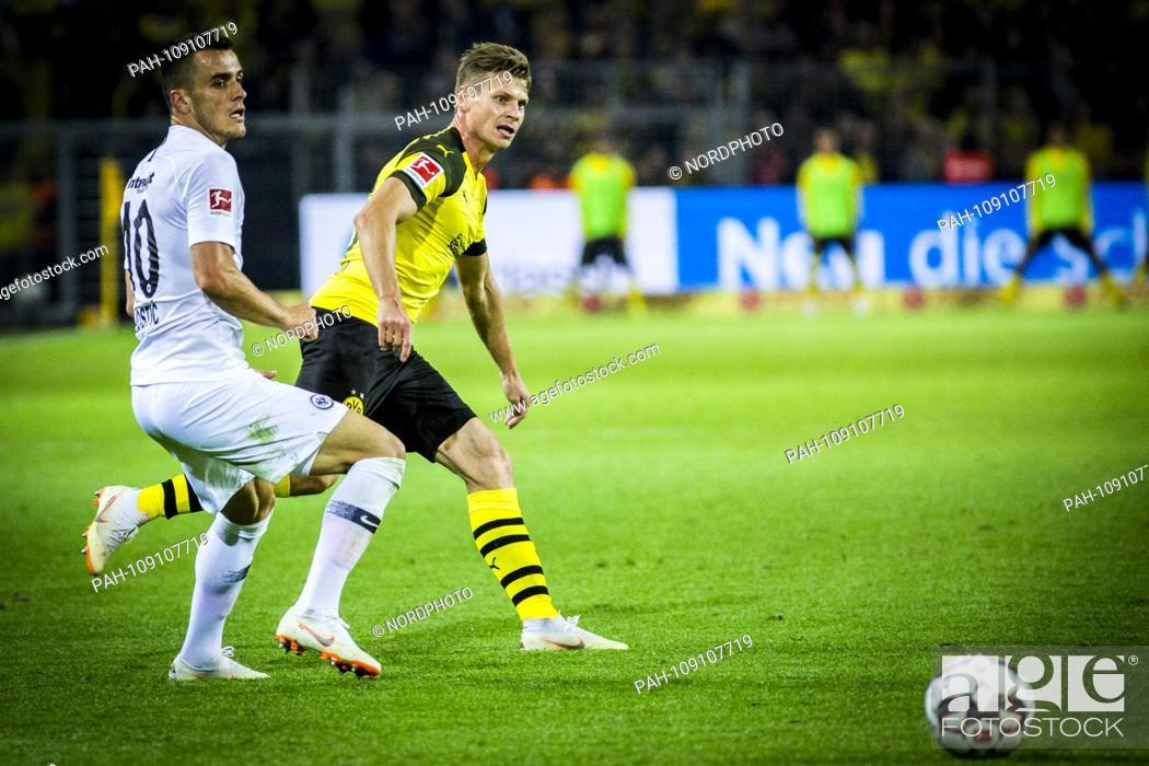 Stock Photo: 14.09.2018, Signal Iduna Park, Dortmund, GER, 1.FBL, Borussia Dortmund vs Eintracht Frankfurt, DFL REGULATIONS PROHIBIT ANY US PHOTOGRAPH AS IMAGE SEQUENCES AND.