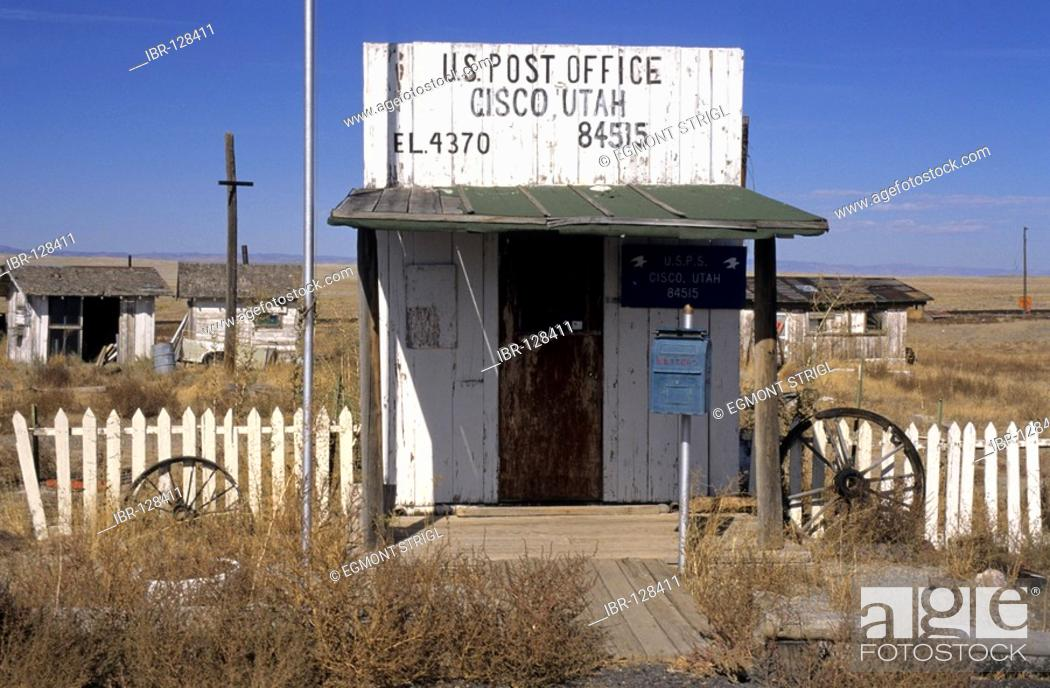 Small post office in Cisco, Utah, USA, Stock Photo, Picture