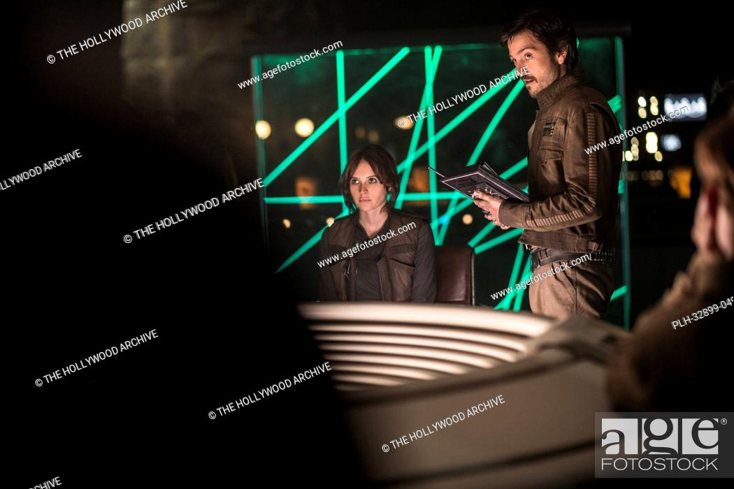 Stock Photo: Rogue One: A Star Wars Story (2016) L to R: Felicity Jones (Jyn Erso) and Diego Luna (Cassian Andor) © 2016 Lucasfilm.