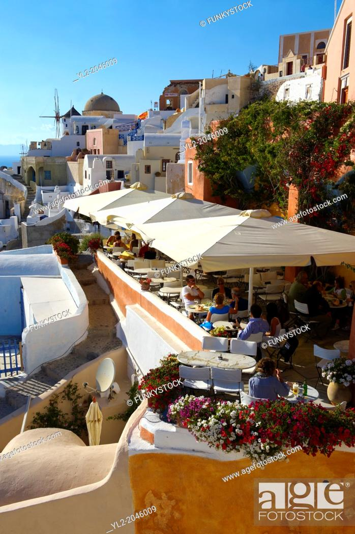Stock Photo: oia Ia Santorini Town- Greek Cyclades islands.