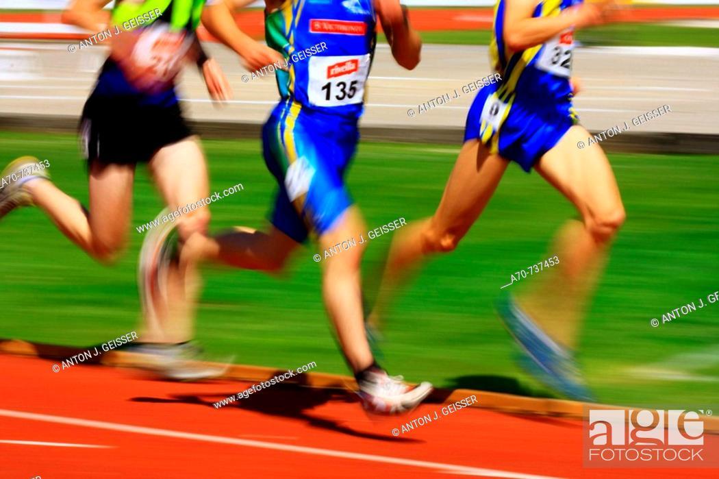 Stock Photo: Athletics: 1.500 metres.
