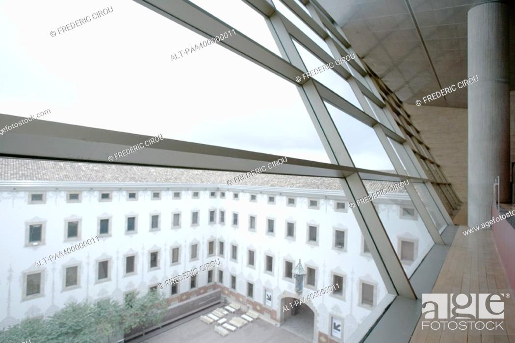 Stock Photo: Architectural view of courtyard.