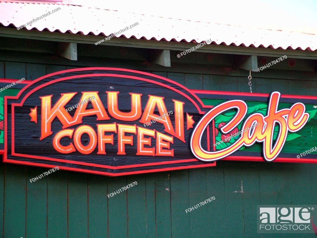 Stock Photo: Numila, Kauai, HI, Hawaii, South Shore, Kauai Coffee Company Plantation.